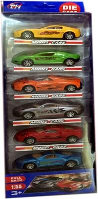 CP Bigbasket Full metal cars set of 6 cars