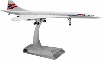 Hogan Wings Concorde British Airways , Scale 1:200 (with Stand with Gear)