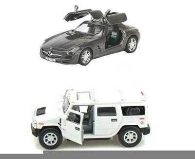 i-gadgets Kinsmart Hummer H2 White And Mercedes Sls Amg Grey