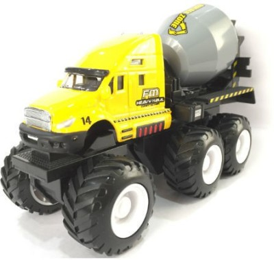 Maisto Builder Zone Quarry Monsters Cement Mixer Yellow
