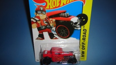 Hot Wheels 2014 Release Team Red Driver Bone Shaker Diecastbone