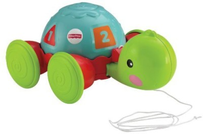 Fisher-Price Pull Along Turtle(Multicolor)