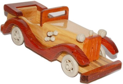 Kfore KFORE 10 Inch Classic Vintage Wooden Open Toy Car