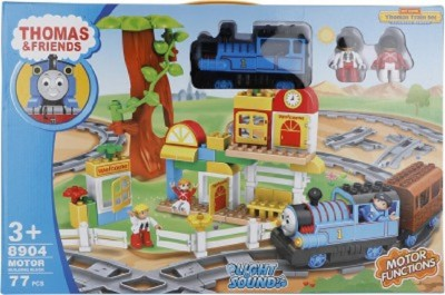 Buds N Blossoms Large Size Train Set with 77 Pcs