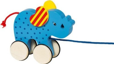 BabyCentre Goki Pull Along Animal Basjo Elephant