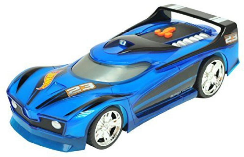 Toystate State Hot Wheels Hyper Racer Light And Sound Spin King(Blue)