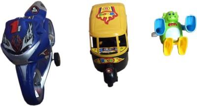 Rahul Toys Small Toys Bike,Riksha,Monkey For Kids
