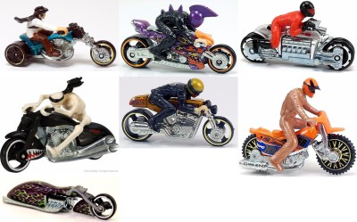 Hot Wheels HOT WHEELS MOTO WITH RIDERS:SET OF 7