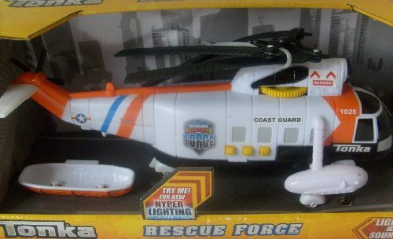 Funrise Tonka Rescue Force Lights & Sounds Coast Guard Helicopter(White)