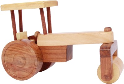 Adaa Three Wheeler Road Roller - Wooden Toy