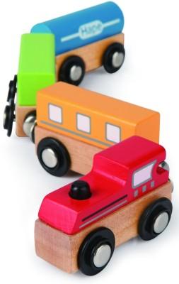 Hape Qubes Magnetic - Classic Train Toy