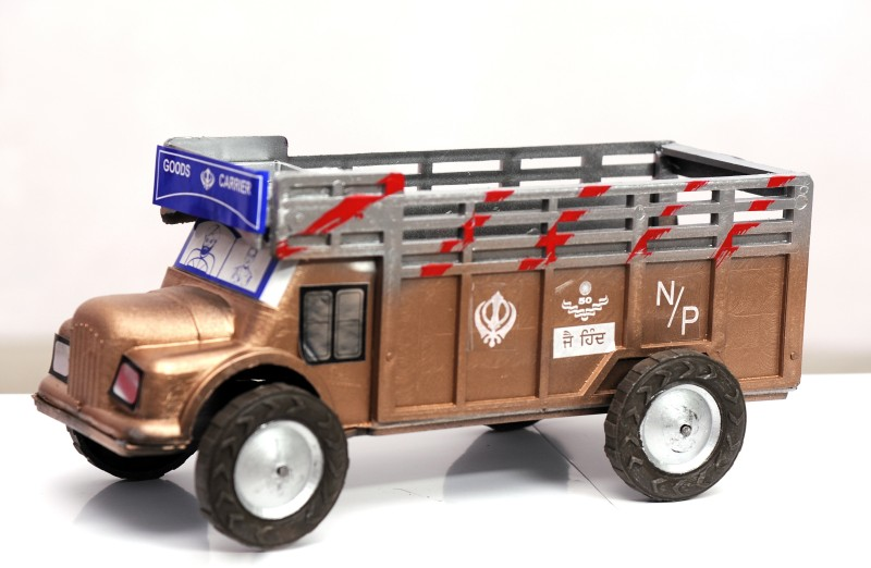 Azad Industries Truck(Brown, Silver)