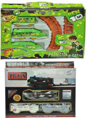 Turban Toys Combo of Battery Operated Train