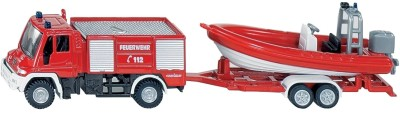 Siku Unimog Fire Engine with Boat