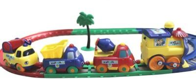 Littlegrin Cartoon Play Train Set Toy for Kids