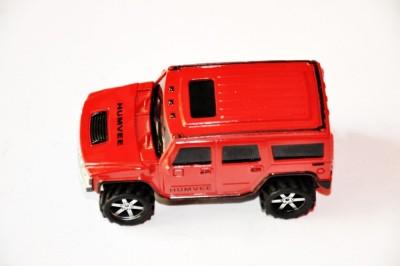 Ruppiee Shoppiee Hummer Red Metal Car