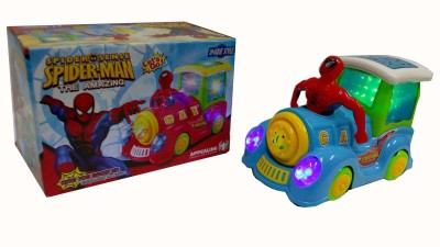Shop & Shoppee The Amazing Spiderman Loco Engine with Light & Sound