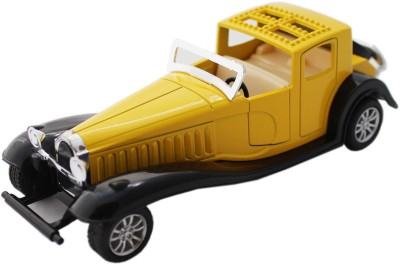 Tootpado Vintage Model Metal Toy Car With Pull Back Mechanism - Playing For Kids