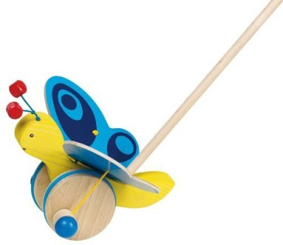 BabyCentre Wooden Push Along Butterfly Toddler Toy