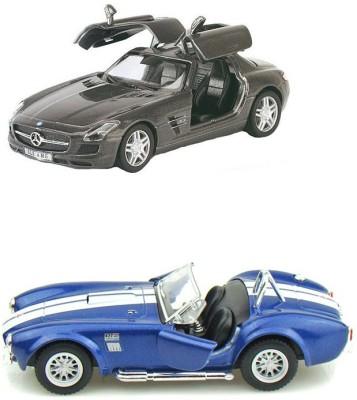 i-gadgets Kinsmart Mercedes SLS AMG and Shelby Cobra blue