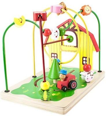 Imagination Generation Wooden Wonders Busy Barnyard Bead Maze