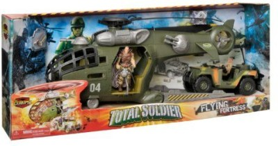 The Corps Total Soldier Flying Fortress Transport Helicopter Playset