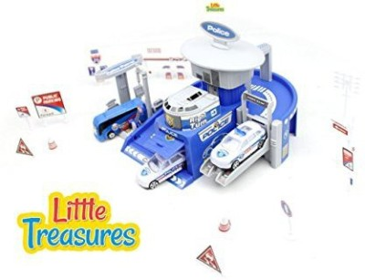 Little Treasures Town Police Control Center Command Unit Toy Playing Set