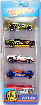 Hot Wheels 5 Car Gift Pack Model-Track Stars