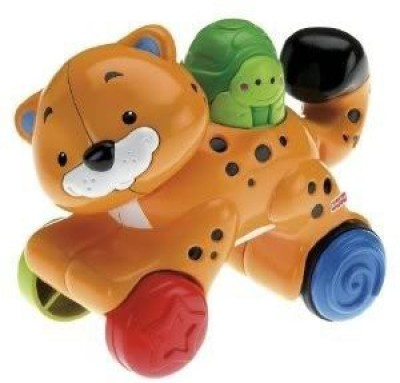 4kids Toy / Game Fisher-Price Amazing Animals Press & Go Cheetah w/ Unique clicking part & A Exciting Toy for Baby