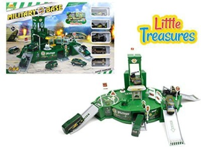 Little Treasures Military War Zone Army Base - With Guard Watch Tower For Security Watch
