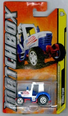 Matchbox 201238 Mbx Construction Tractor Red White & Blue 164 Scale