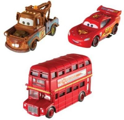 Mattel Cars 2 Collector Double Decker Busmaterand Lightning