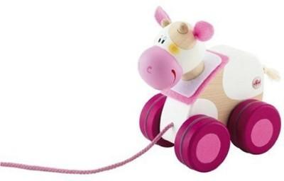 Sevi Mini Pull Along Toy, Cow(Multicolor24)