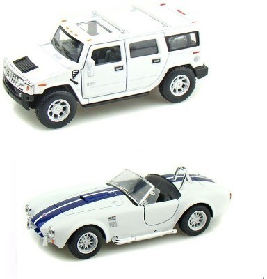 Mayatra's Kinsmart Hummer H2 and Shelby Cobra White