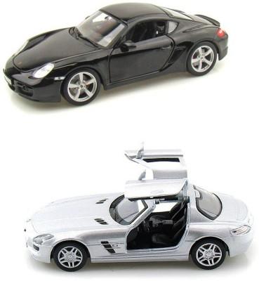 Kinsmart Porsche Caymen and Mercedes SLS AMG