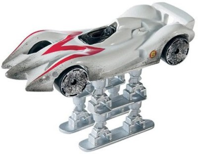 Hot Wheels Speed Racer White Racewrecked Mach 6 With Jump Jacks