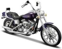 Maisto Harley Davidson 2001 FXDWG Dyna Wide Glide 1/18 Diecast Motorcycle(Violet)
