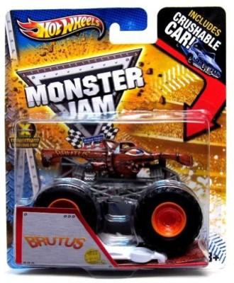 Hot Wheels Monster Jam 2013 New Deco Brutus Brow Crushable Car