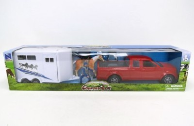 NewRay 120 Scale Pickup Truck And Horse Trailer Playset 37145