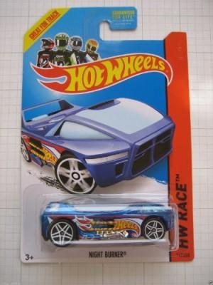 Mattel 2014 Hot Wheels Hw Race Night Burner Treasure Hunt