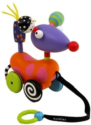 Kushies Zippy-Scoot Pull Toy