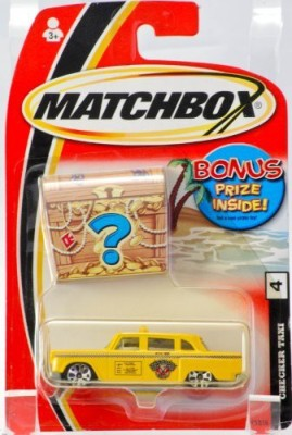 Mattel 2004 Matchbox 4 Checker Taxi Bonus Prize Inside Very Rare