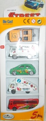 Shop & Shoppee Die Cast Vehicle Set with 5 Different Cars