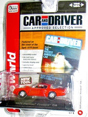 Auto World Car And Driver Magazine Edition Orange 164 Scale 1976