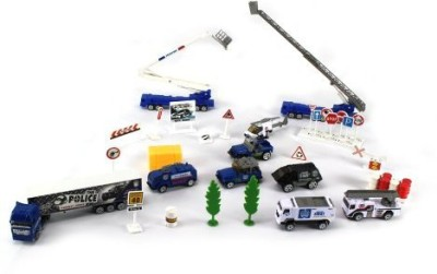 Toy Vehicle Playsets Super Police Combat Force 40 Piece Play Setcomes