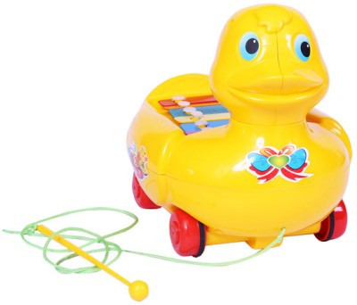 E Soft Musical Duck Pull Along Toy