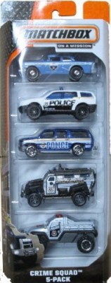 Matchbox 2014 On A Mission Crime Squad 5Pack
