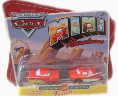 Disney Cars Mini Adventures Lightning Mcqueen,S Team 2Pack