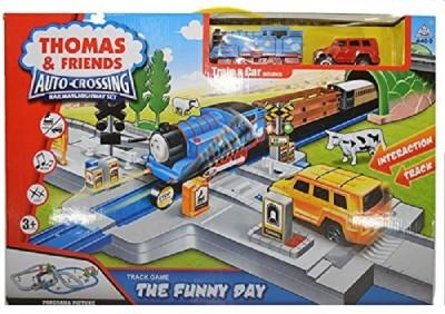 ToyTree Thomas & Friends Auto-Crossing Railway Highway Train Set