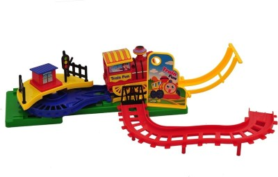 Scrazy Train Fun Electronic Flip Track Action Toys Music And Light